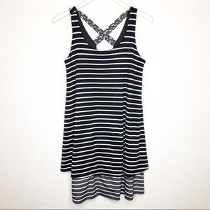 Puella | Black & White Striped Soft Tank Dress S